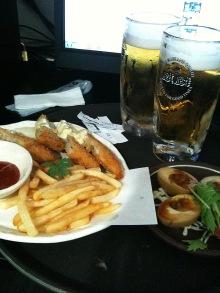 ネットカフェでビール(ってか発泡酒)