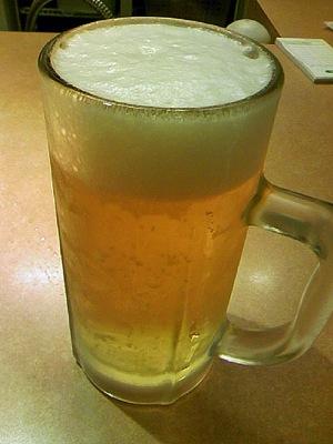 美味しいビールを飲めるはずだったのに