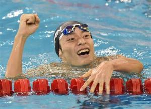 金メダルの入江選手