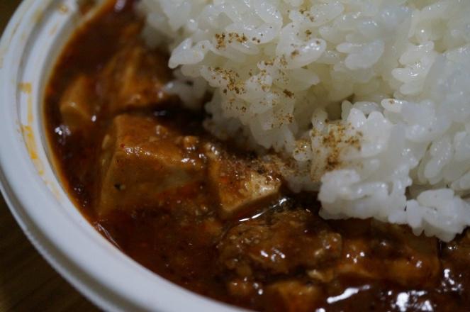 今日食べたもの:コンビニの麻婆豆腐