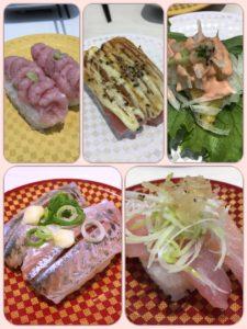 魚べいの寿司たち
