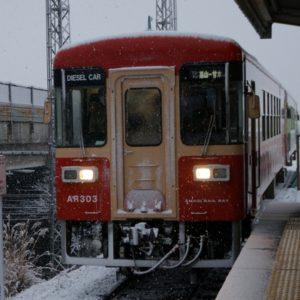 甘木鉄道、小郡駅にて